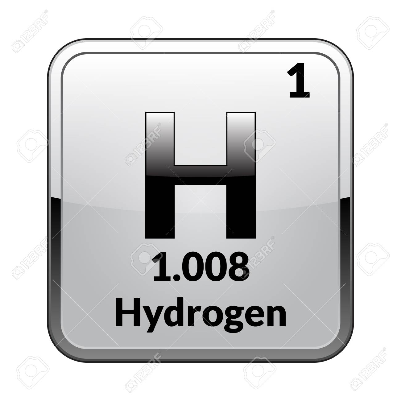 Hydrogen symbolemical element of the periodic table on a glossy hydrogen symbolemical element of the periodic table on a glossy white background in a urtaz Choice Image