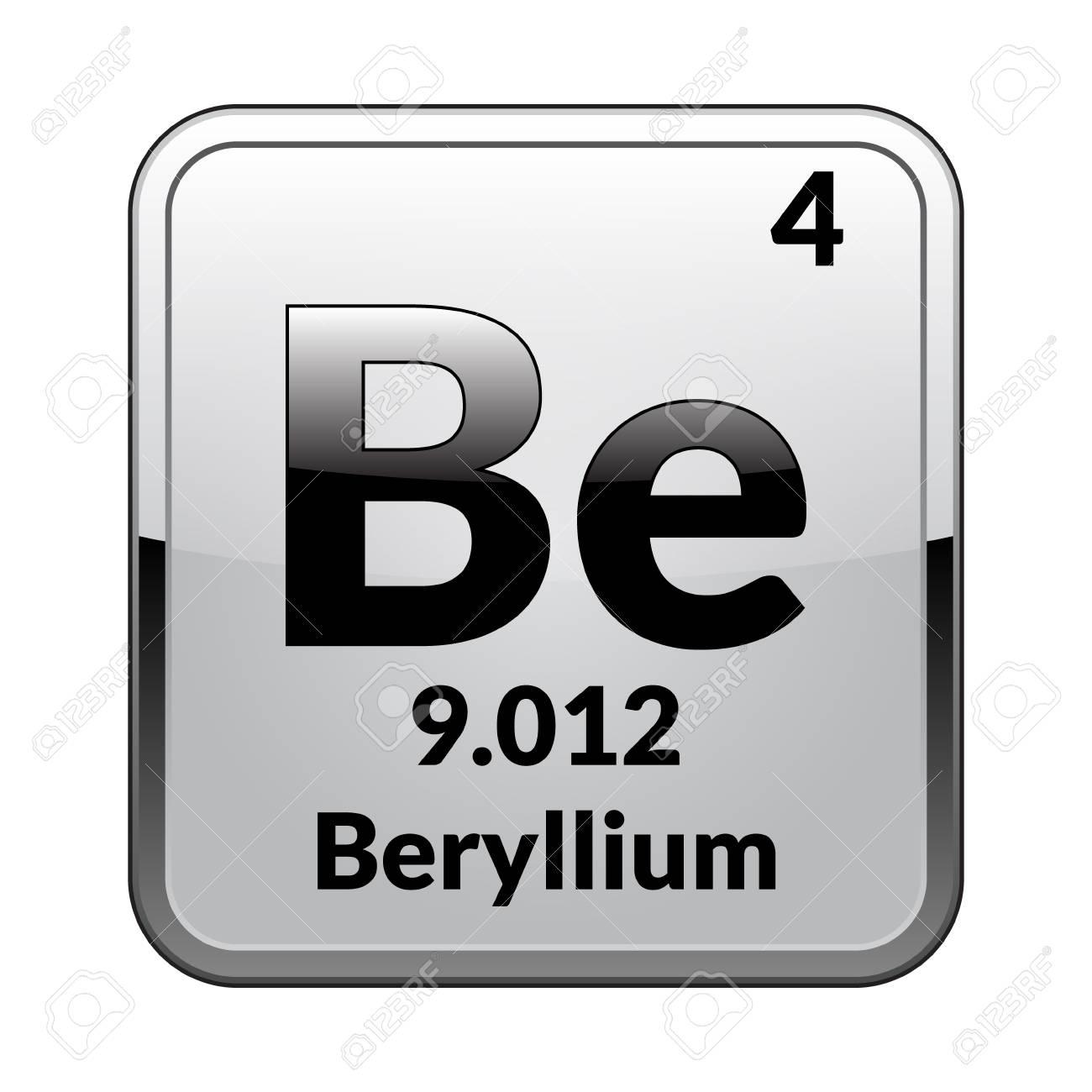 Beryllium Symbolemical Element Of The Periodic Table On A