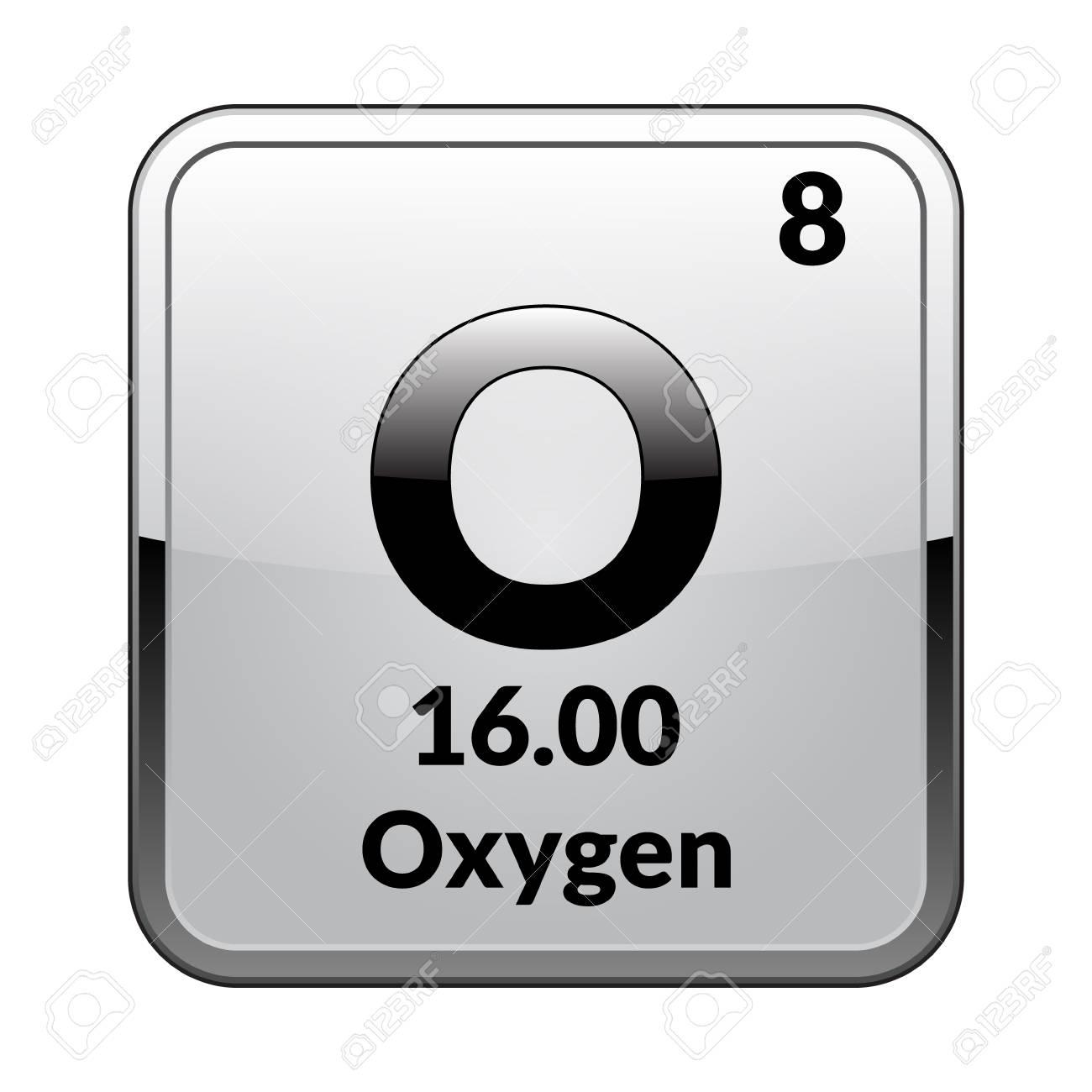 Oxygen symbolemical element of the periodic table on a glossy oxygen symbolemical element of the periodic table on a glossy white background in a urtaz Gallery