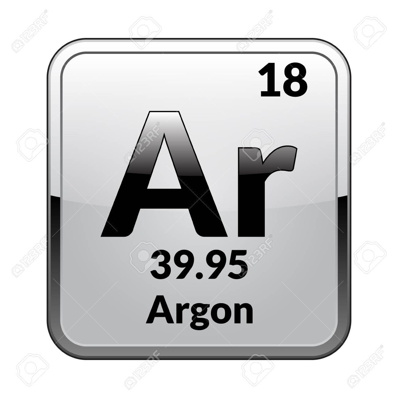 Argon symbolemical element of the periodic table on a glossy argon symbolemical element of the periodic table on a glossy white background in a urtaz Choice Image