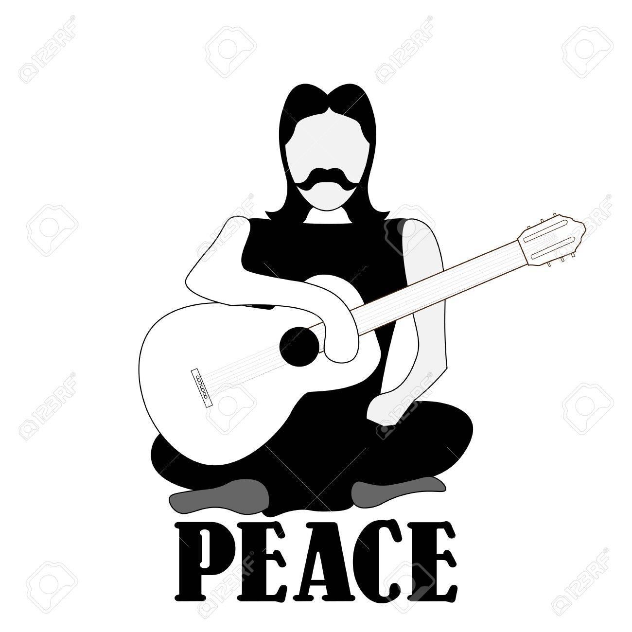 平和と平和主義の黒と白の気配が...