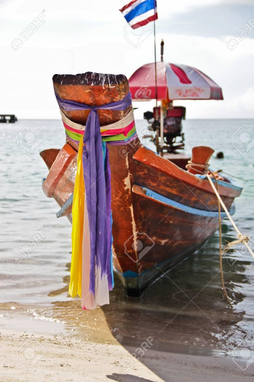 long-tail boat on Koh Tao, Thailand Stock Photo - 11078755
