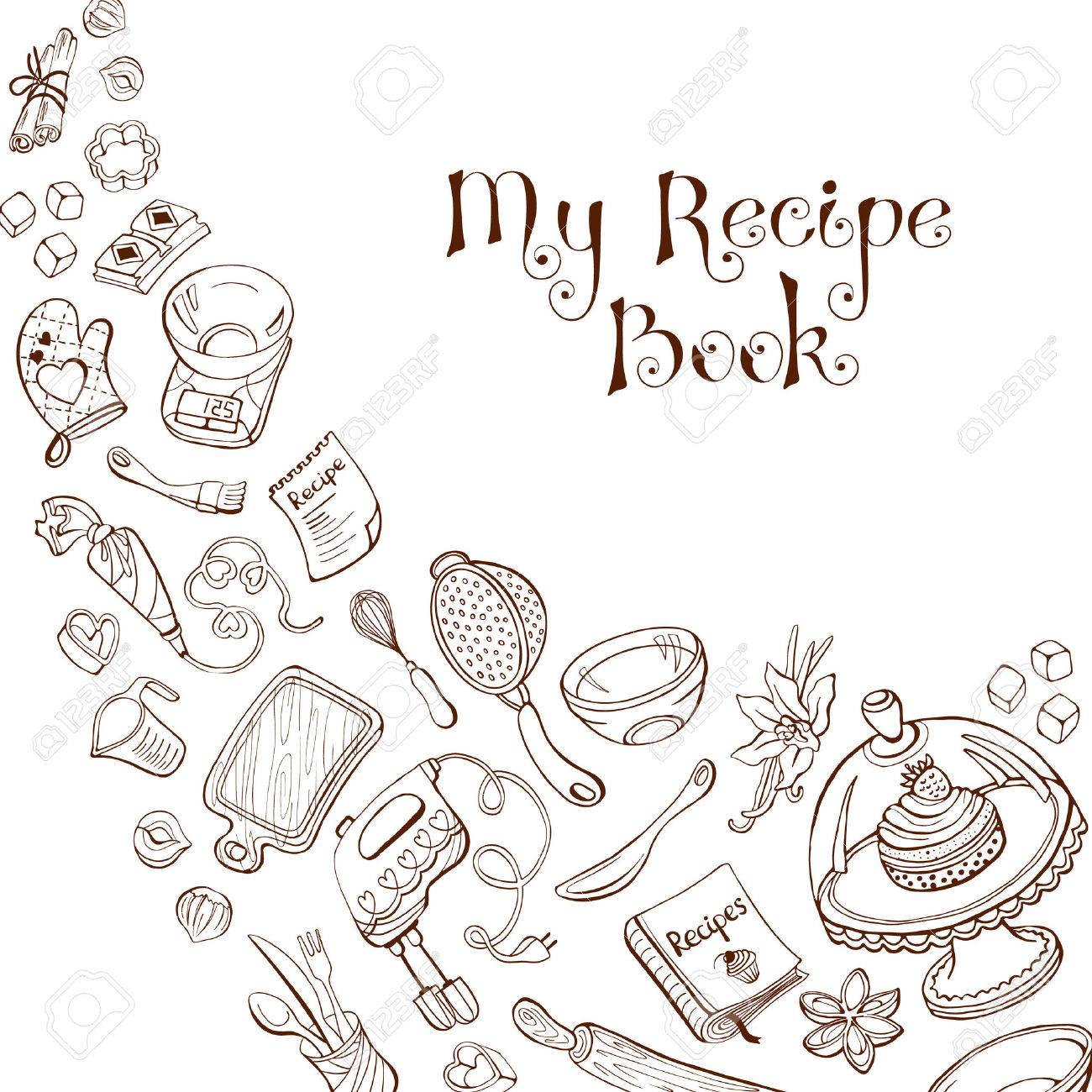 My Recipe Book Cafe And Restaurant Menu Design Concept