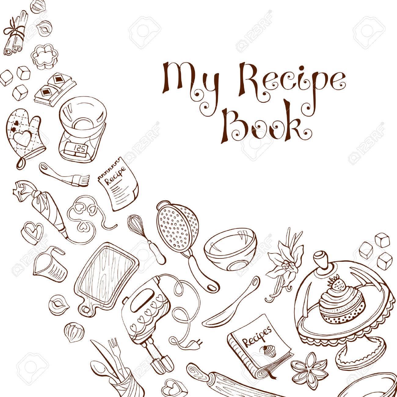 Bakselwerktuigen In Doodle Stijl Mijn Receptenboek Café En