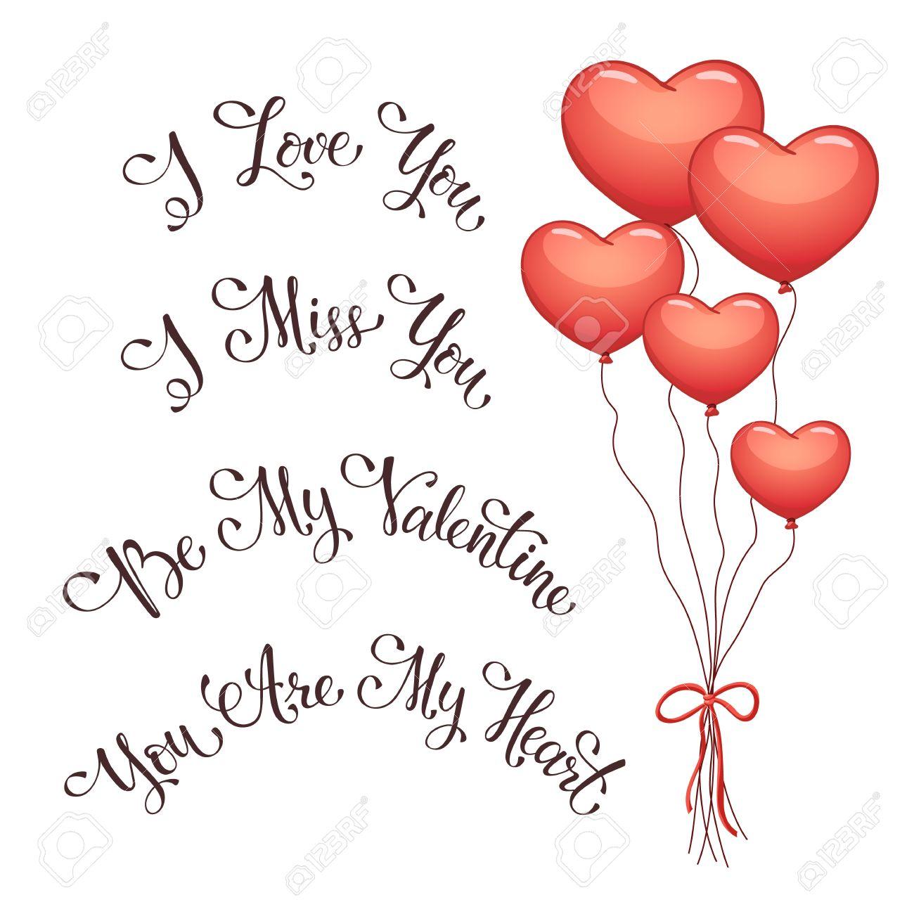 Moderne Kalligraphie Fur Den Valentinstag Ich Liebe Dich Ich