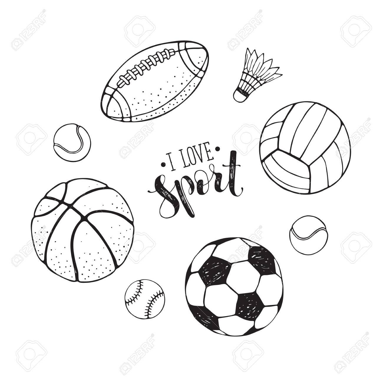 Atractivo Dibujos Para Colorear Bolas De Deporte Ornamento ...