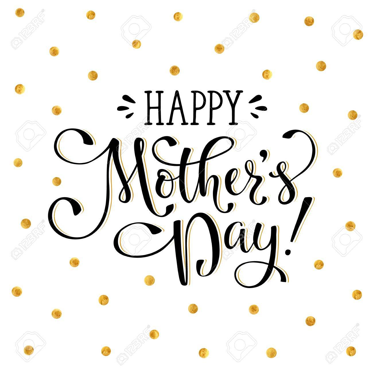 Mother\'s Day Greeting Card Template. Happy Mothers Day Wording ...