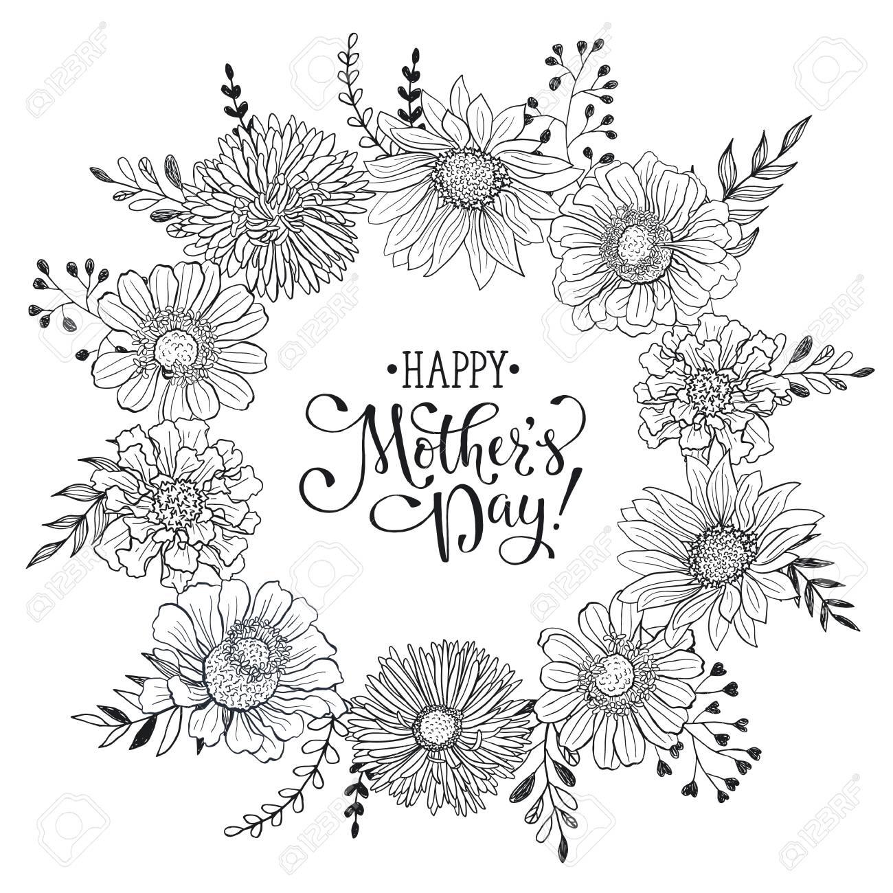 Muttertag Grußkartenvorlage. Glücklicher Mutter-Tages Formulierung ...
