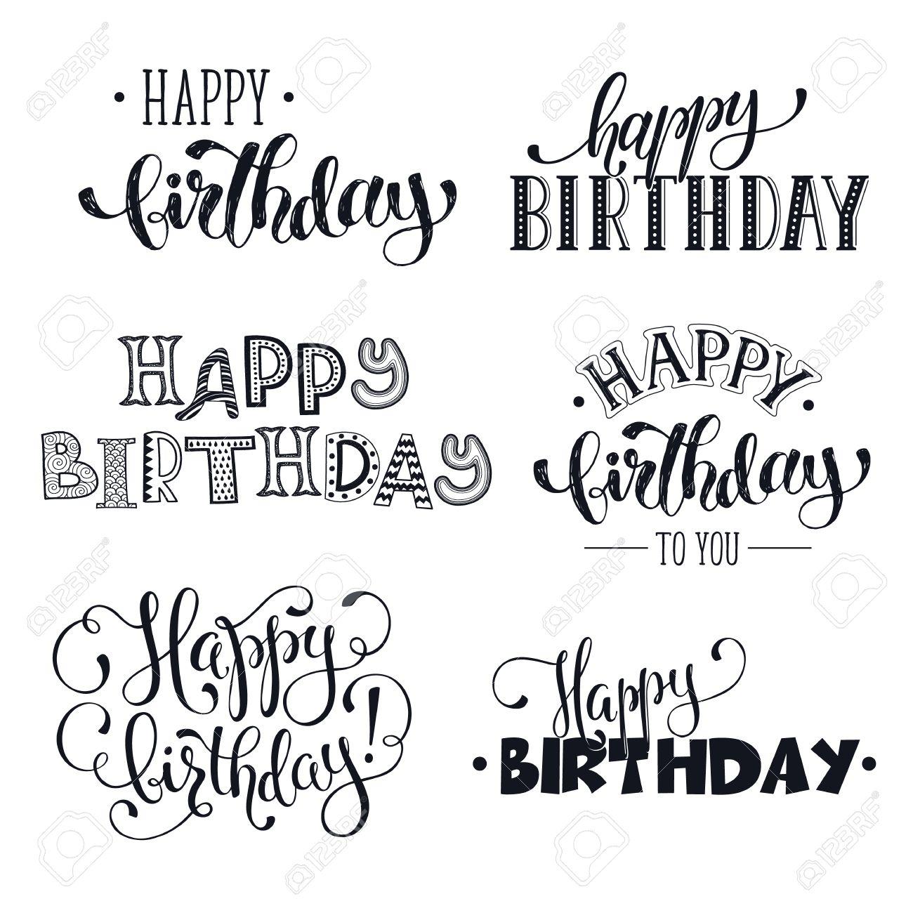 Hand Alles Gute Zum Geburtstag Sätze Geschrieben. Grußkarte Text ...