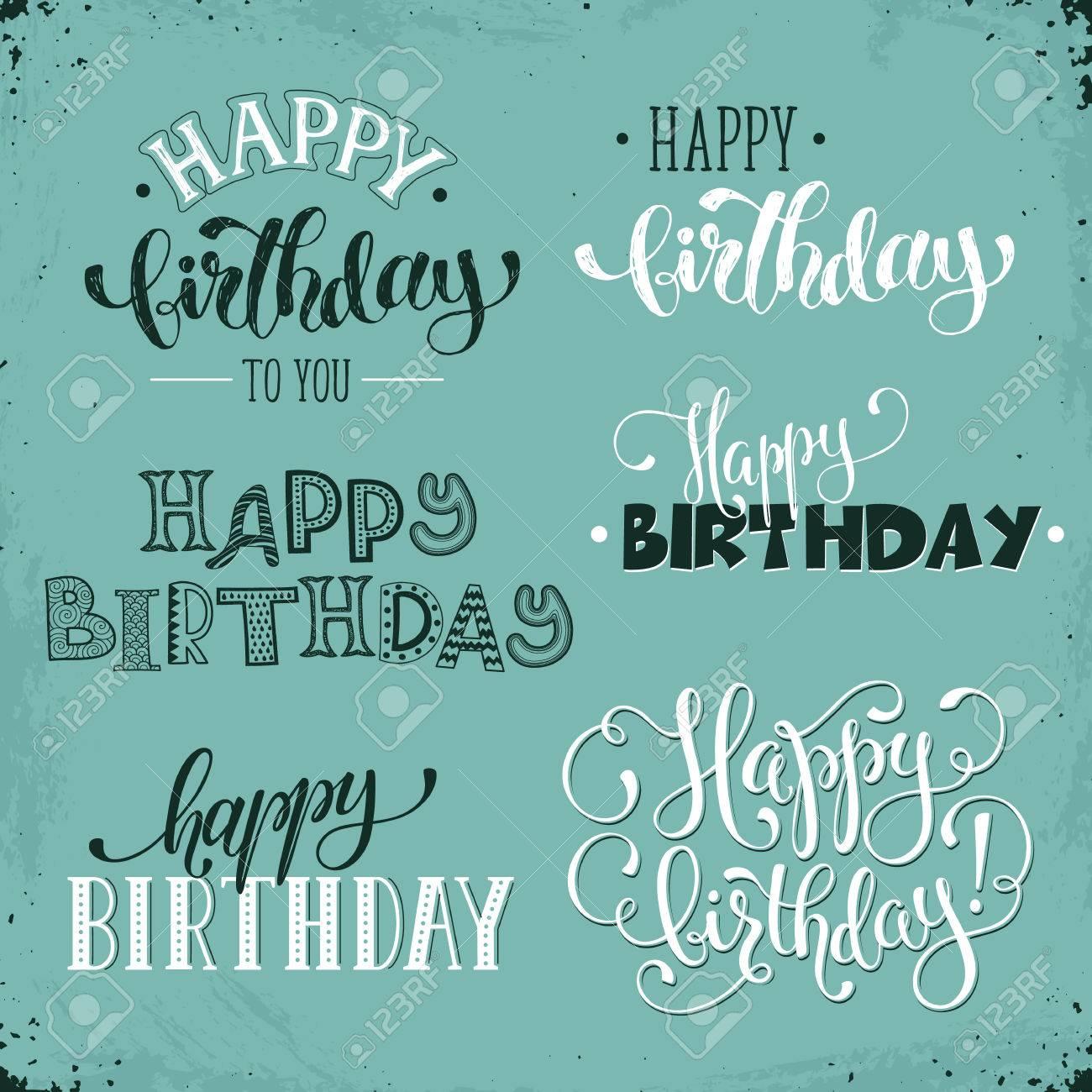 Hand Geschrieben Alles Gute Zum Geburtstag Vintage Phrasen