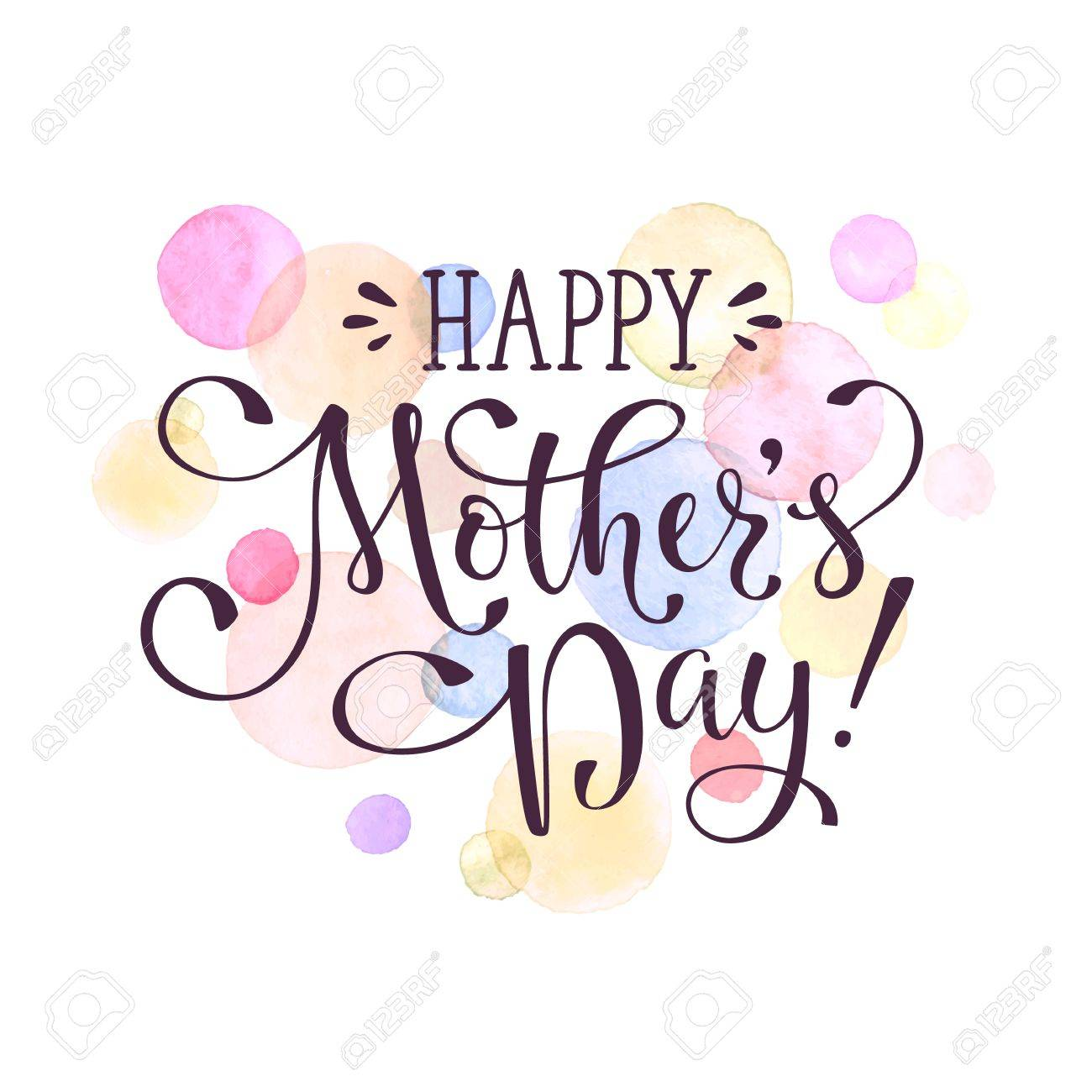 mother s day greeting card template happy mothers day calligraphic