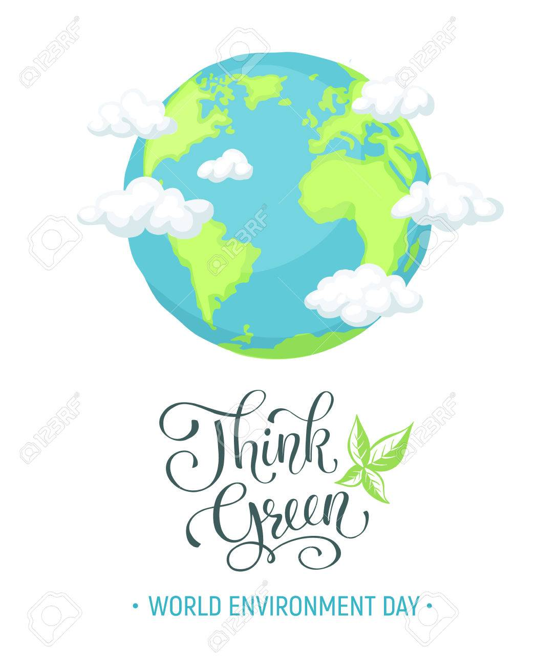 Creative Poster On Earth Day With Slogan