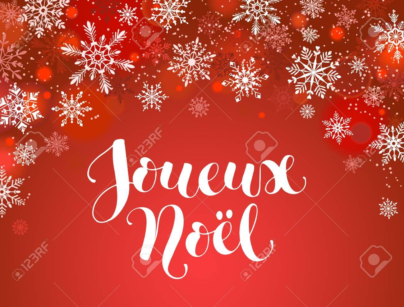 Feliz Navidad Plantilla De Tarjeta De Felicitación Francesa ...