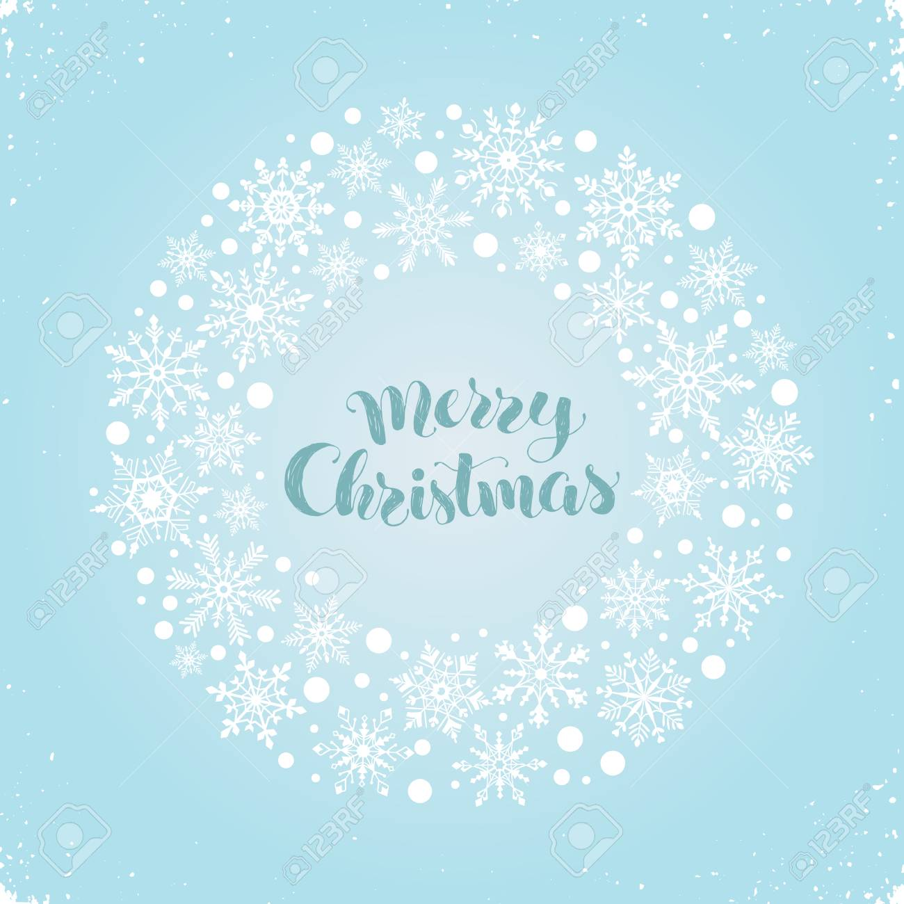 Merry Christmas Greeting Card Template Modern Winter Holidays