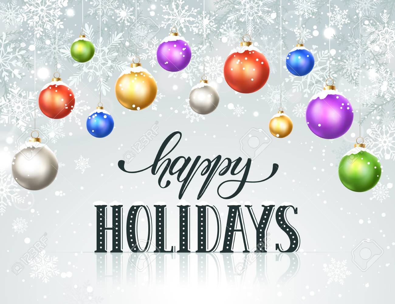 Happy Holidays Card Template from previews.123rf.com
