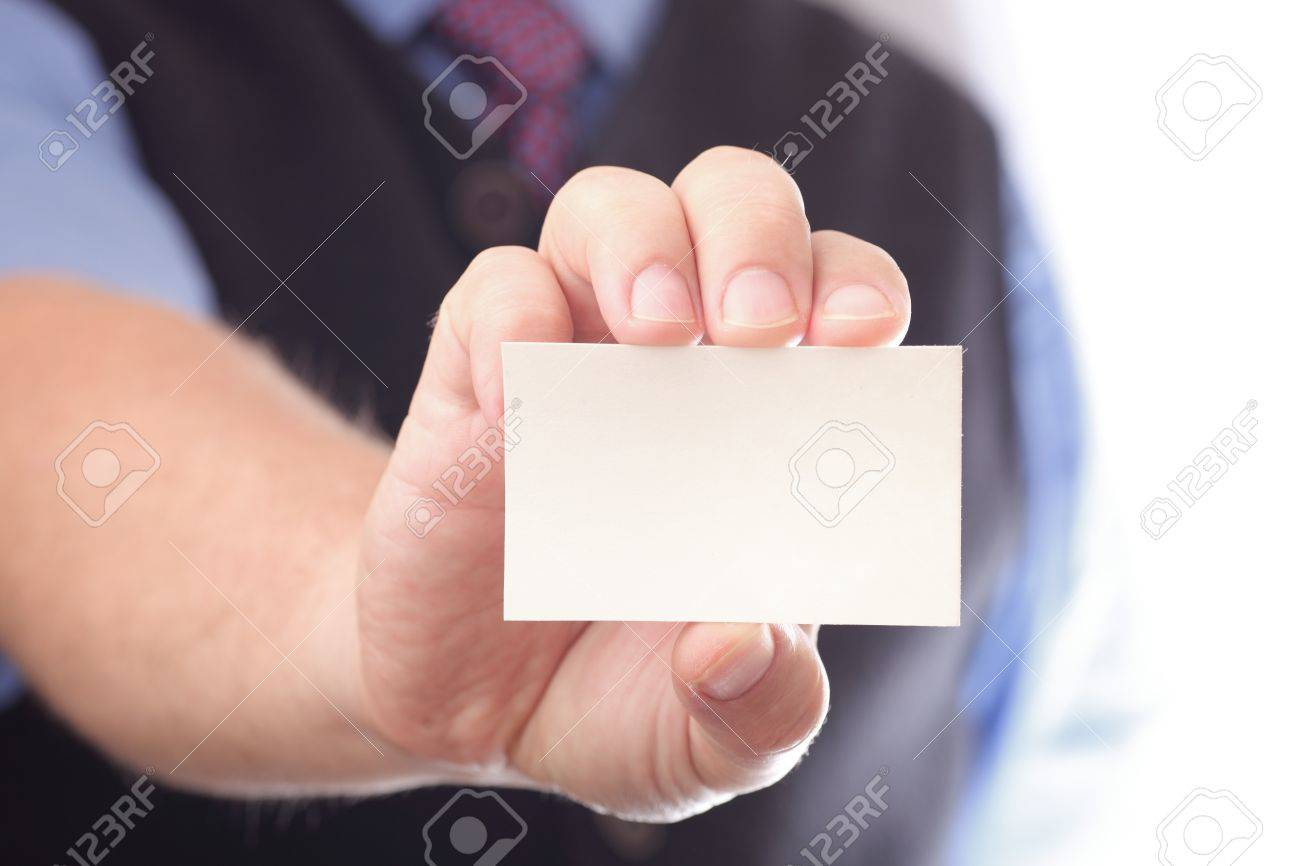 Businessman showing business card focus on fingers and card businessman showing business card focus on fingers and card you can just add your colourmoves