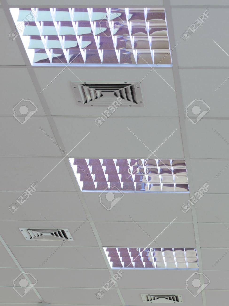 A fluorescent light set in the roof Stock Photo - 9038650