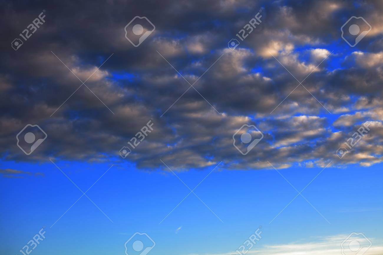 Storm clouds The sky blue background nobody Stock Photo - 14594274