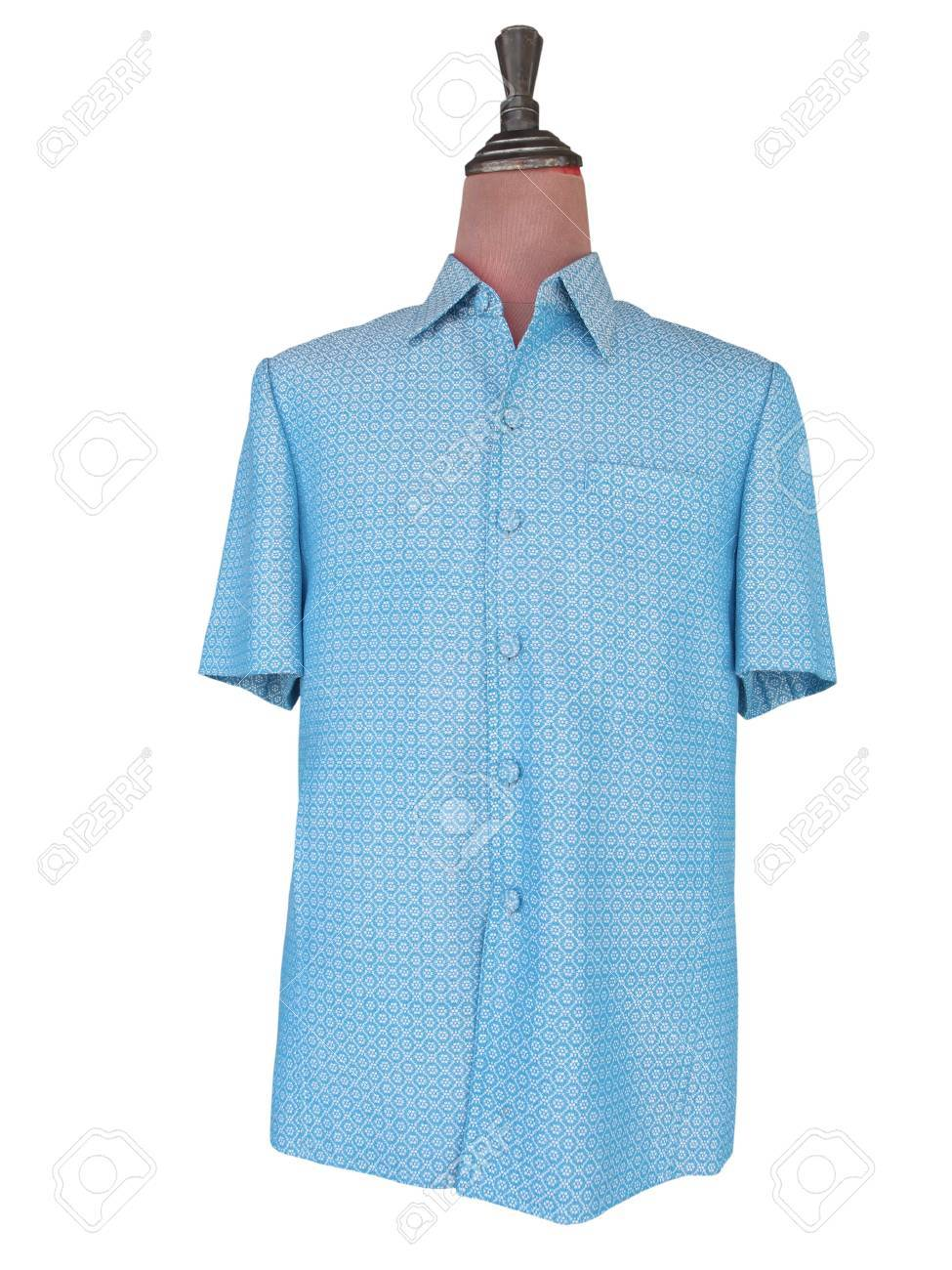 f55bbeb9f Royally bestowed shirt for men traditional Thai style on mannequin isolated  on white background with clipping