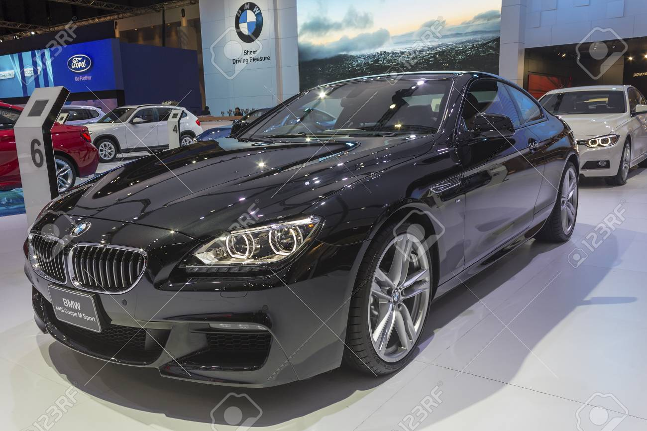 Bangkok April 2 Bmw 640i Coupe M Sport Car On Display At The Stock Photo Picture And Royalty Free Image Image 31129500