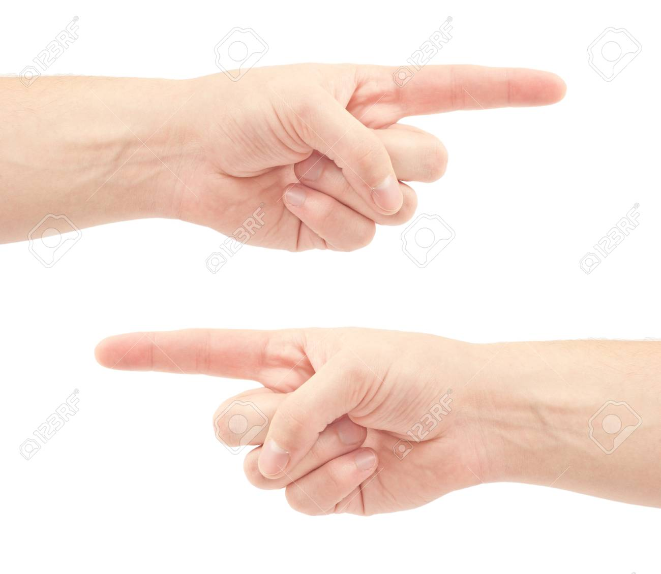 Pointing hand isolated on white background Stock Photo - 12614175