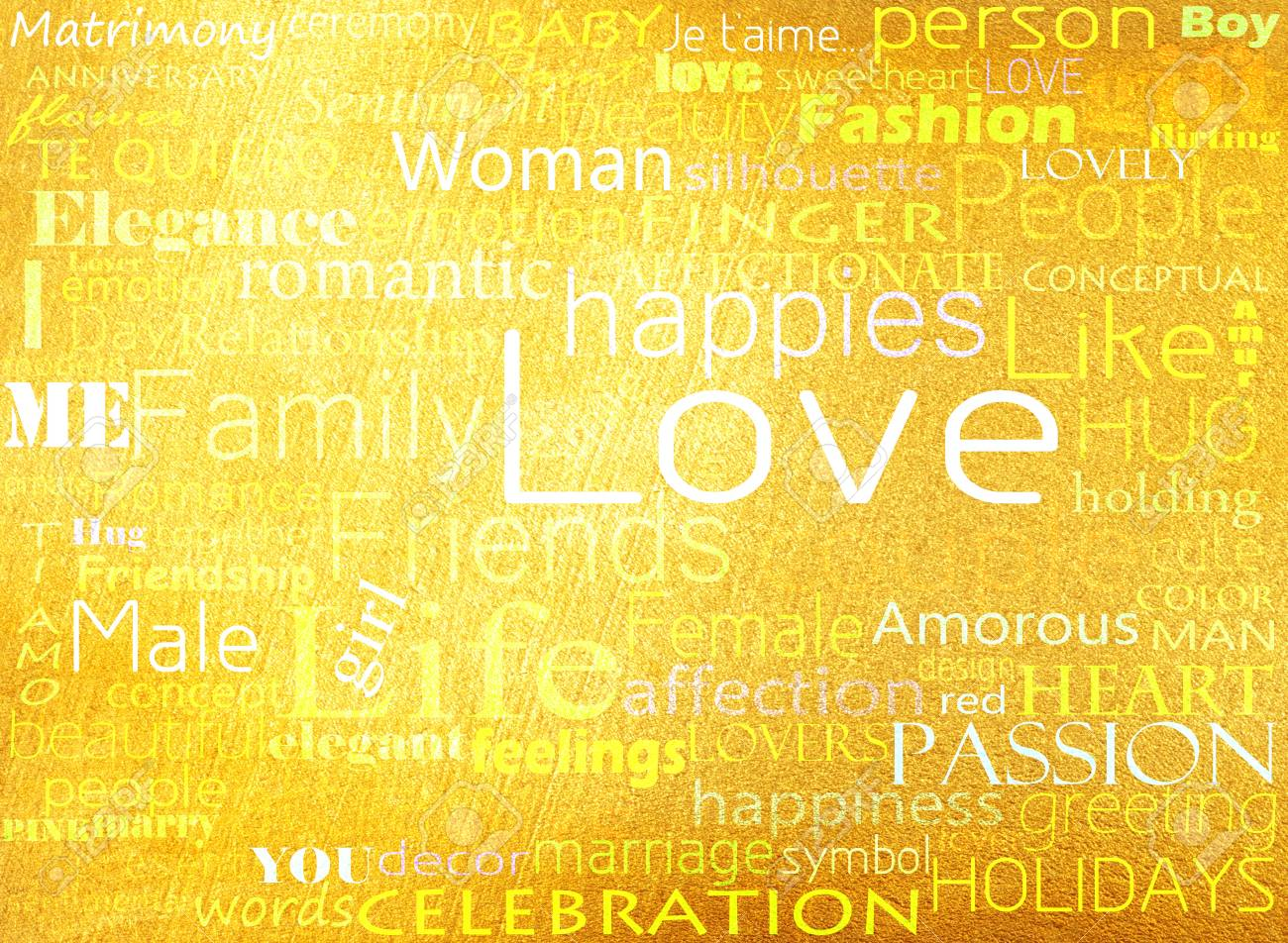 Seamless pattern made from words which relate with word love Stock Photo - 13450397