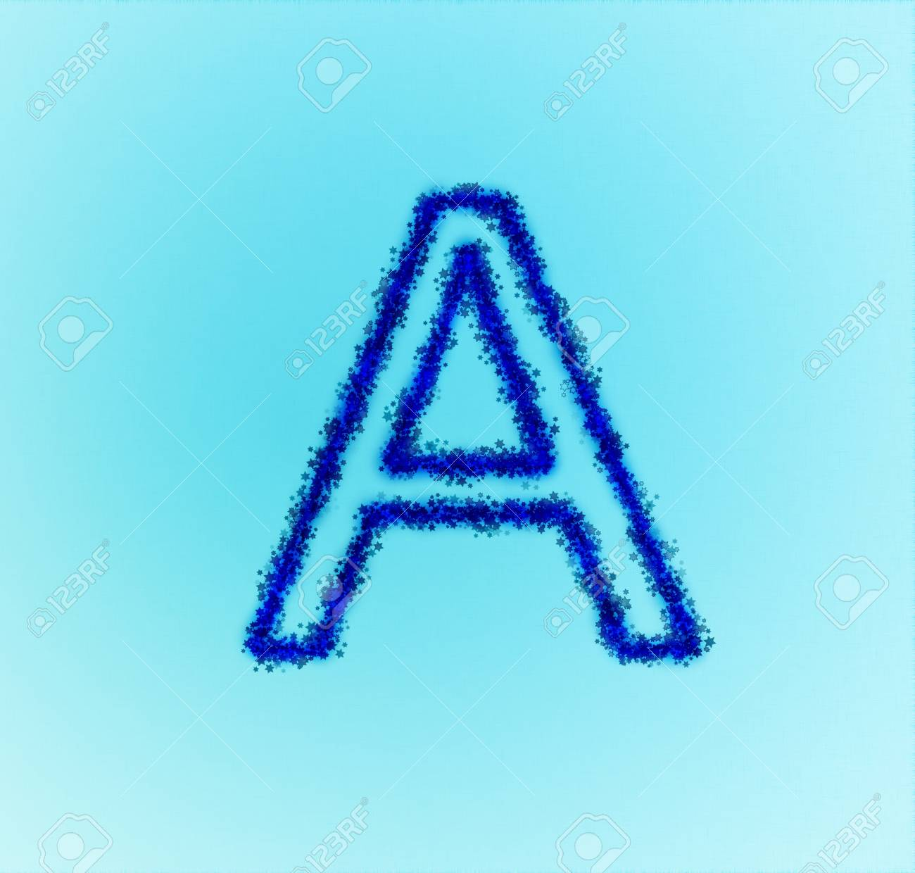 Gold star alphabet(letter A) Stock Photo - 13857585