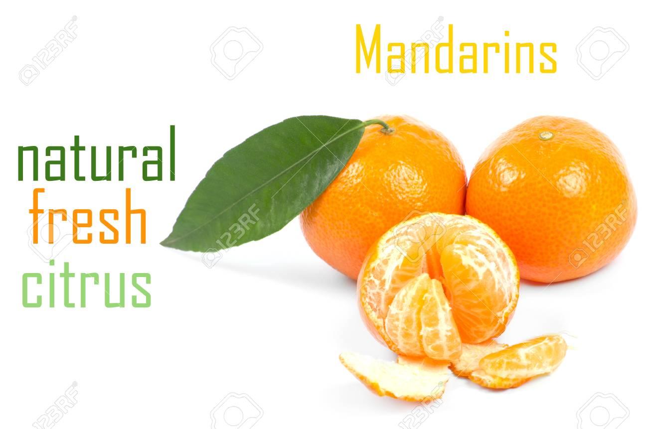Mandarins isolated on white background Stock Photo - 14289638