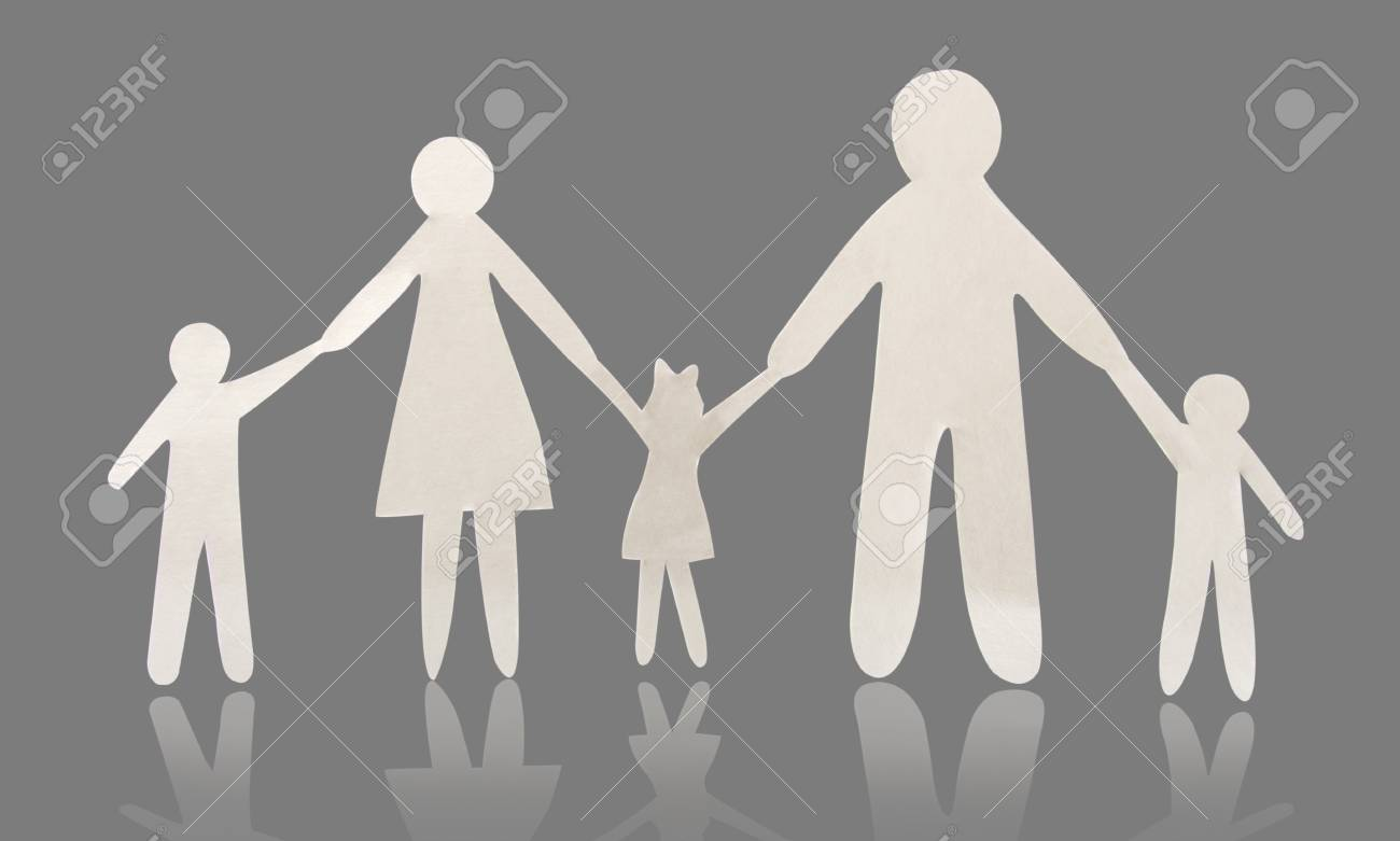 paper family Stock Photo - 15198098