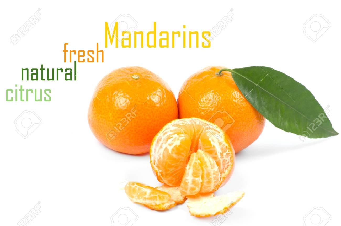 Mandarins isolated on white background Stock Photo - 15218068