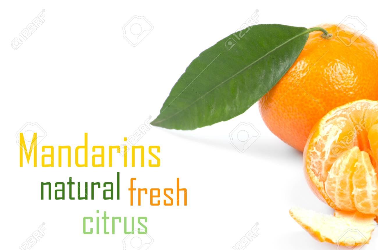 Mandarins isolated on white background Stock Photo - 15457280