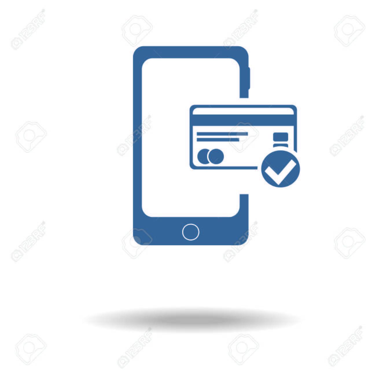 Carte Bancaire Sur Telephone.Telephone Portable Avec Icone De Carte De Credit Methodes De