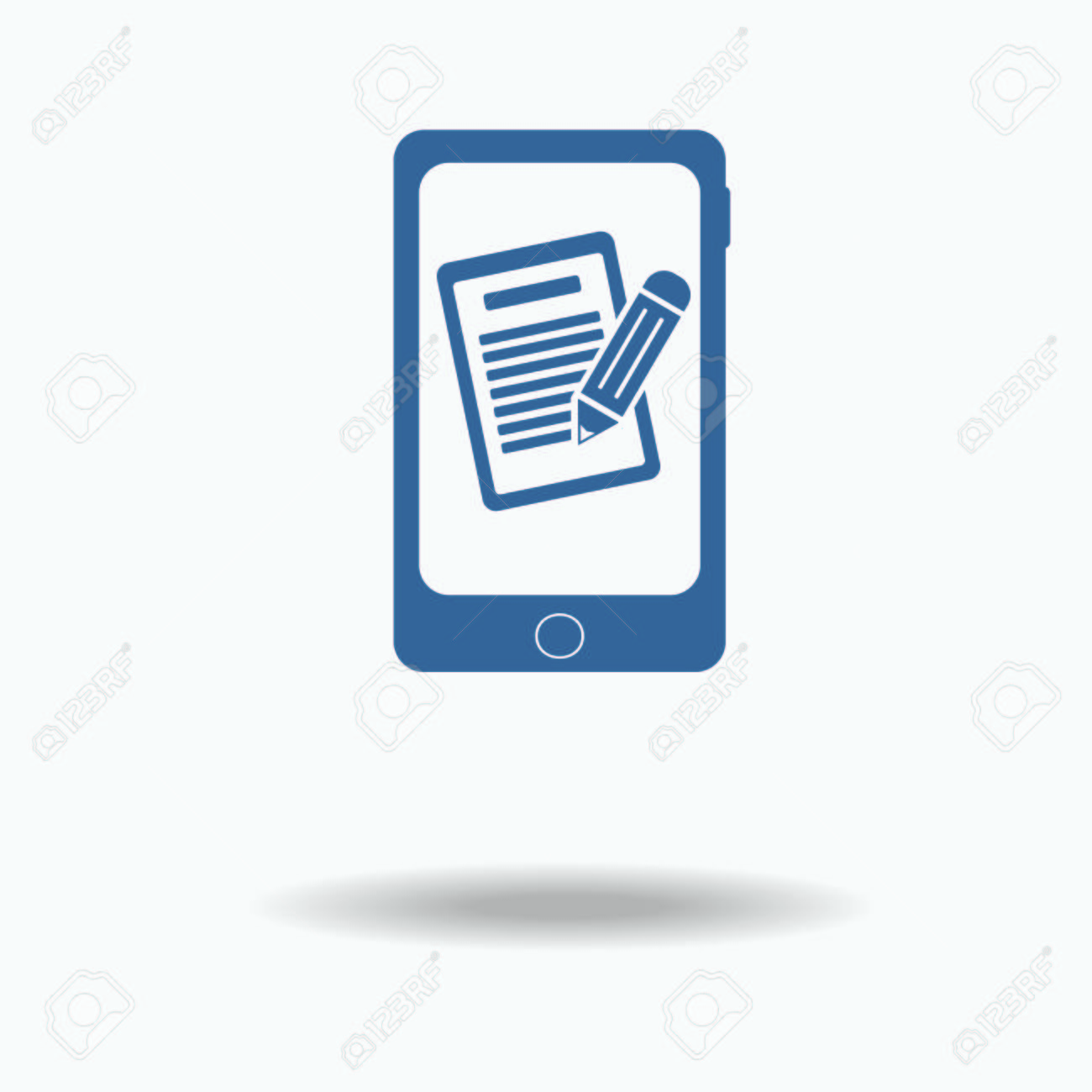 Phone mobile form, queue, resume  Pictograph of file   Single
