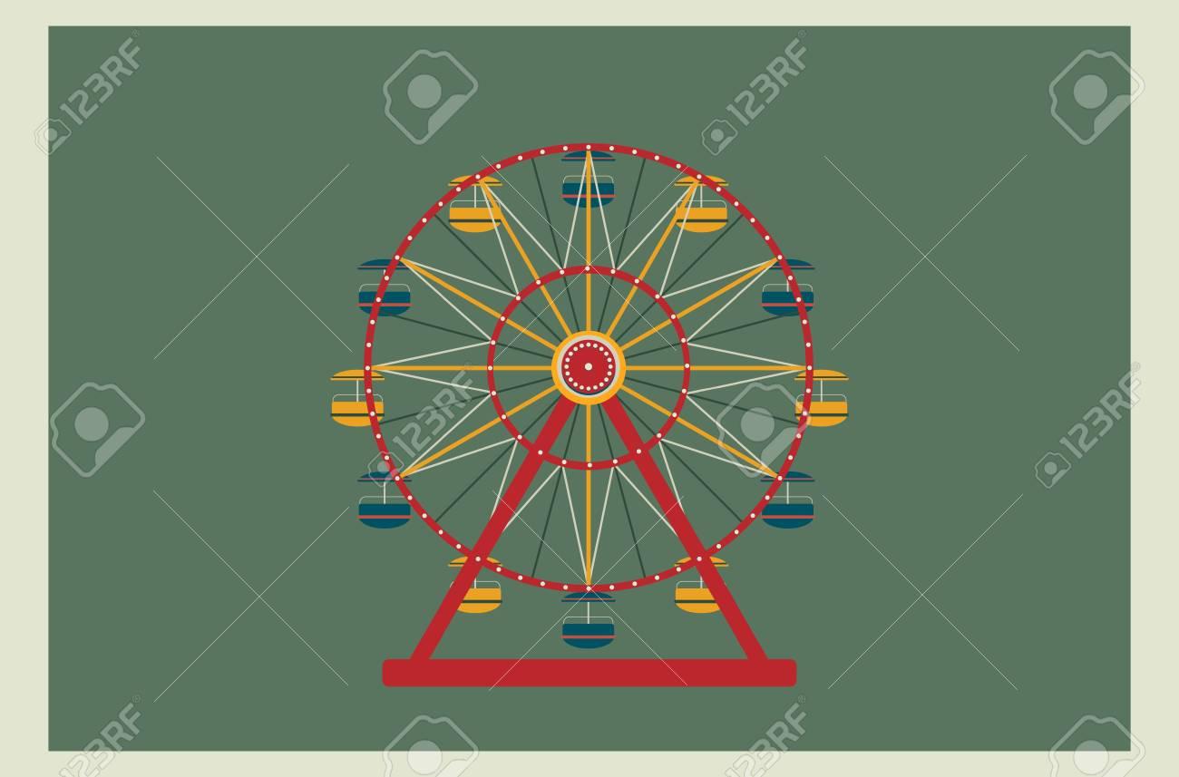観覧車のベクトル図です あなたのデザインの要素です ポスターや壁紙