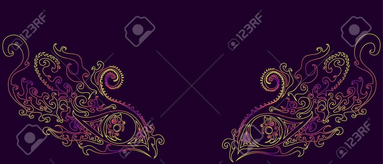 Psychedelic,mystic,ethno, eye shaman, isolated  Vector illustration