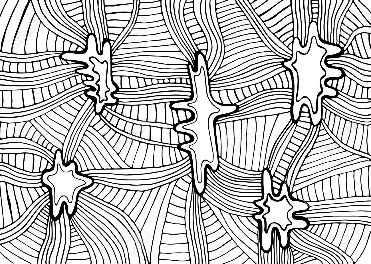 Coloring page abstract pattern maze of ornaments psychedelic