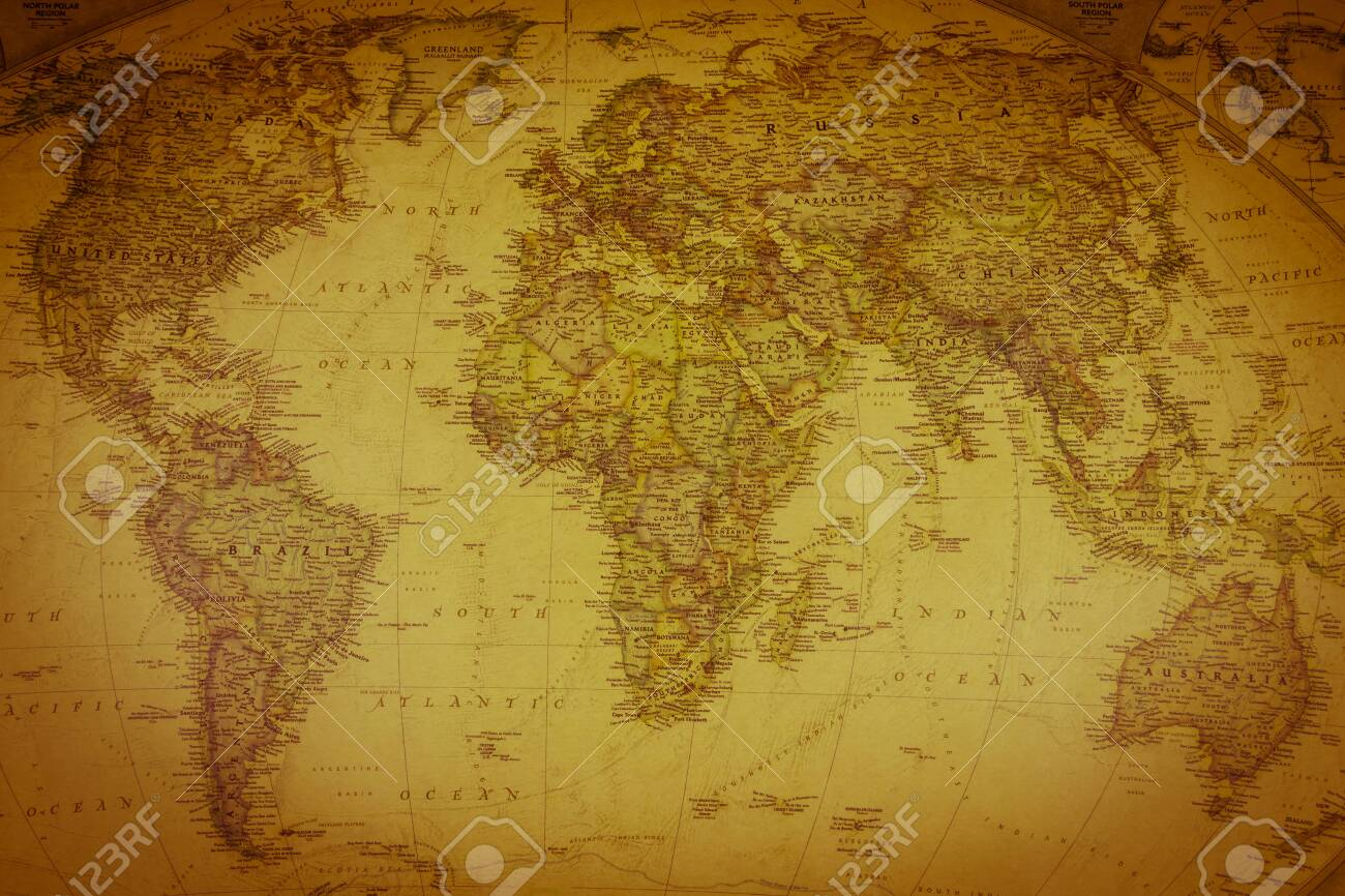 Vintage map of the world. Top view - 148060677