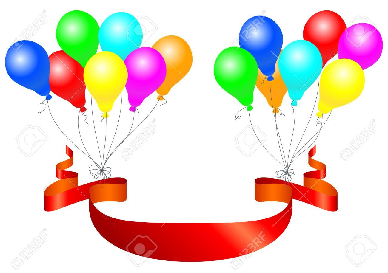 Celebración globos con la bandera. Ilustración del vector. Foto de archivo  - 34383461 2da2c712287
