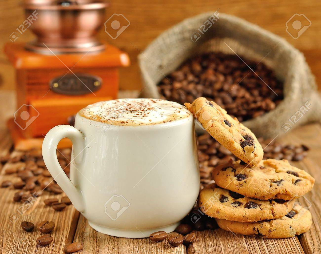 Cookie Coffee Cups Black And White Cookies Images Stock Pictures Royalty Free
