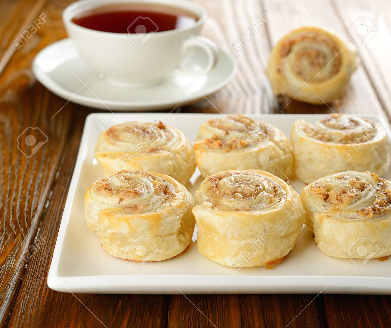 Rolls with nut filling Stock Photo - 16566274