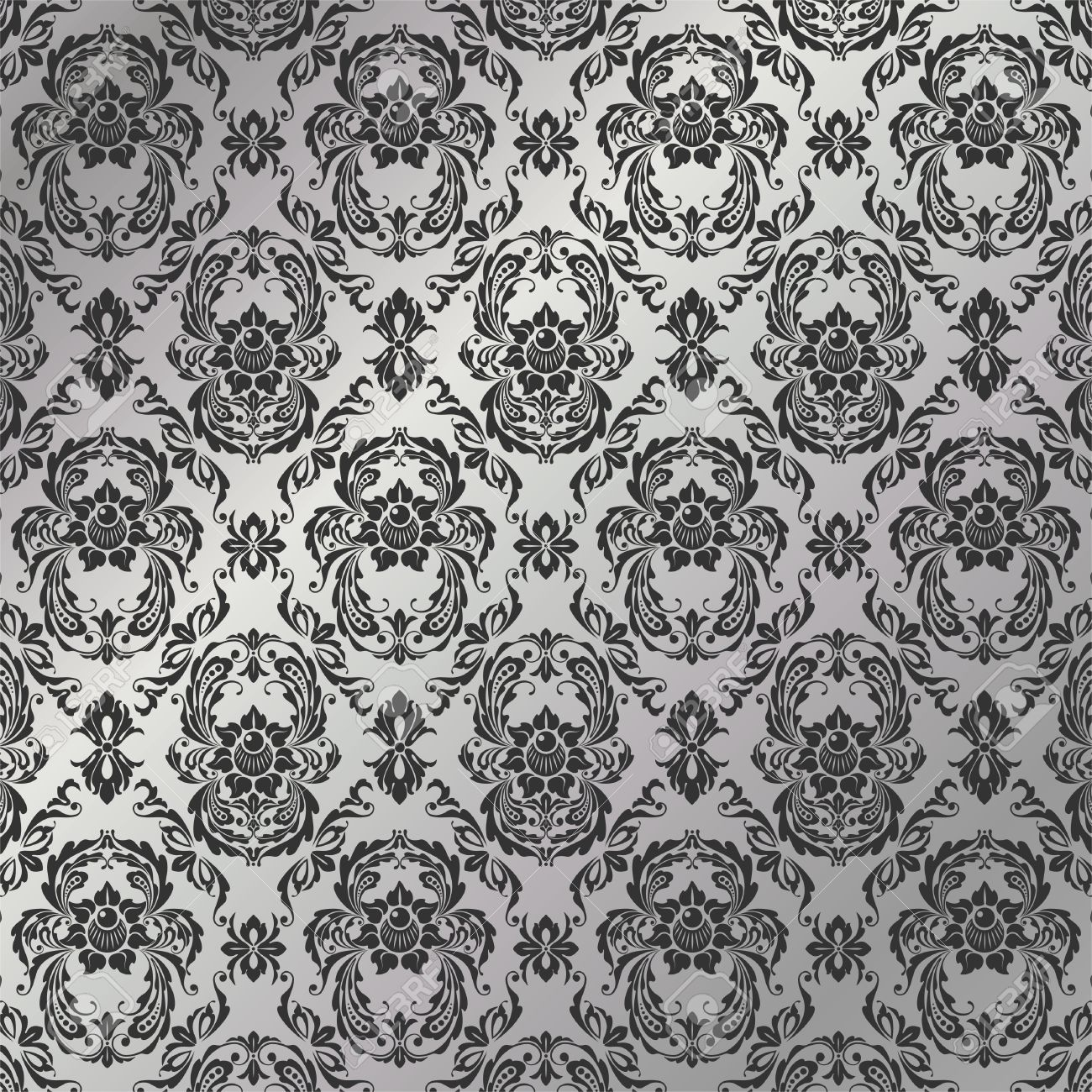 graceful decorative wallpaper of silvery tones stock vector 5047294 - Decorative Wallpaper