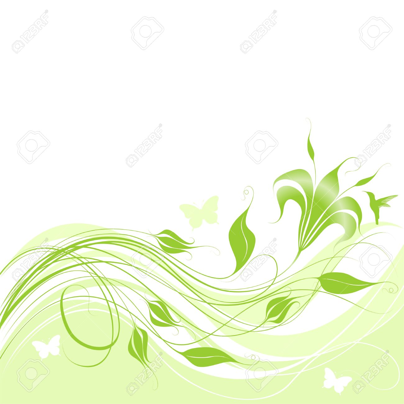 abstract background with green flower elements royalty free cliparts vectors and stock illustration image 6176194 123rf com