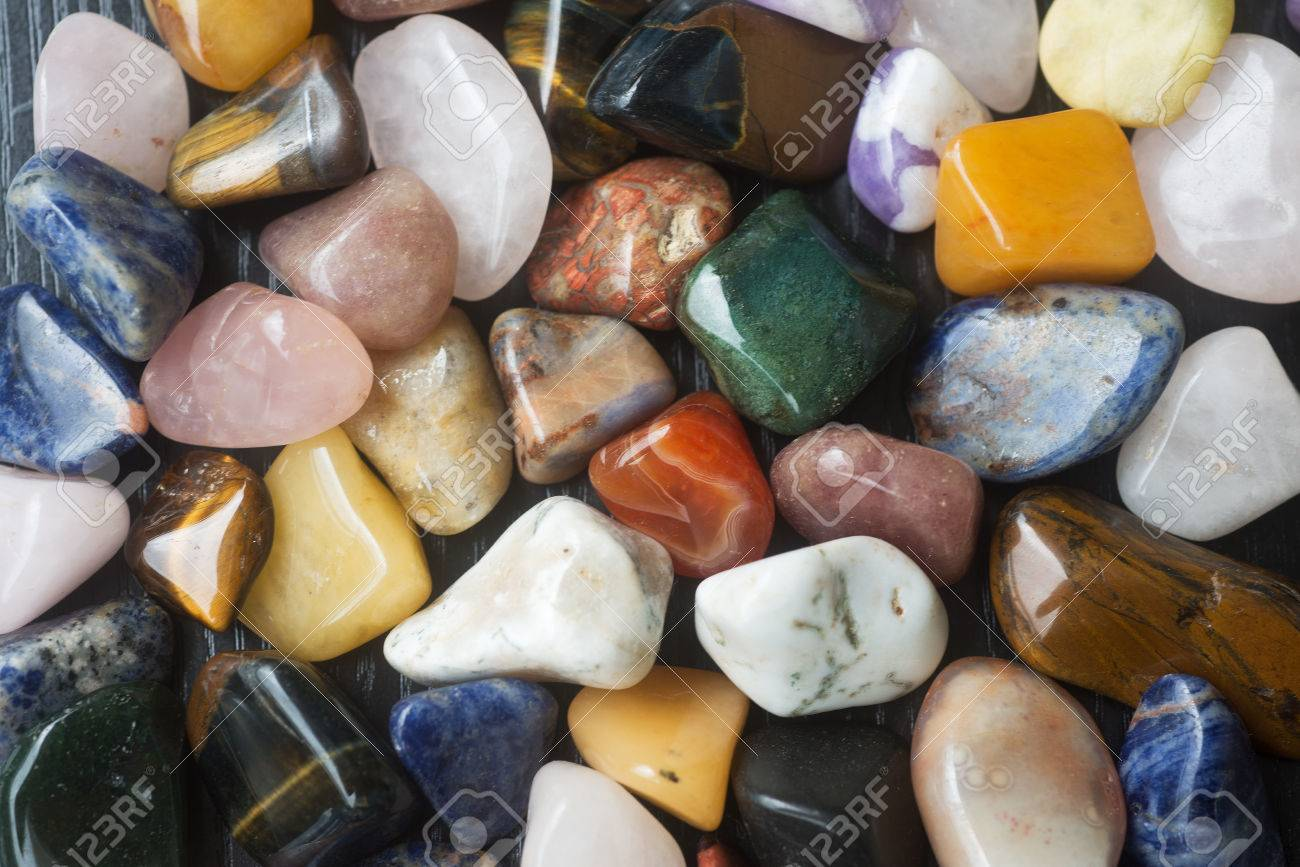 Set Of Processed South African Gemstones Of Different Types And ...