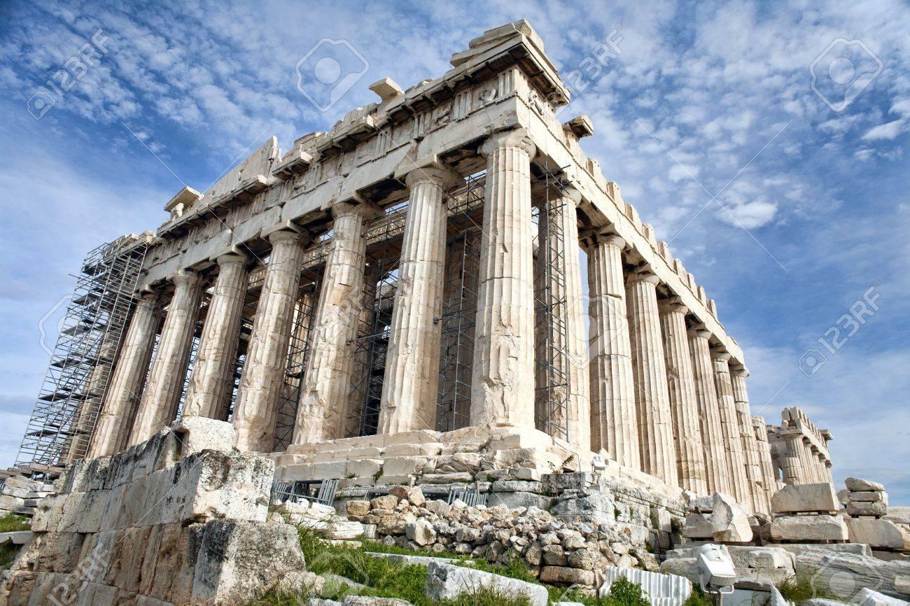 Antique Parthenon on renovation on Acropolis in Athens, Greece Stock Photo - 9905228