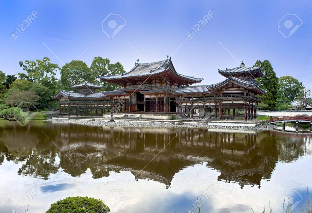 Japanese Buddhist temple Byodoin in Uji village near Kyoto