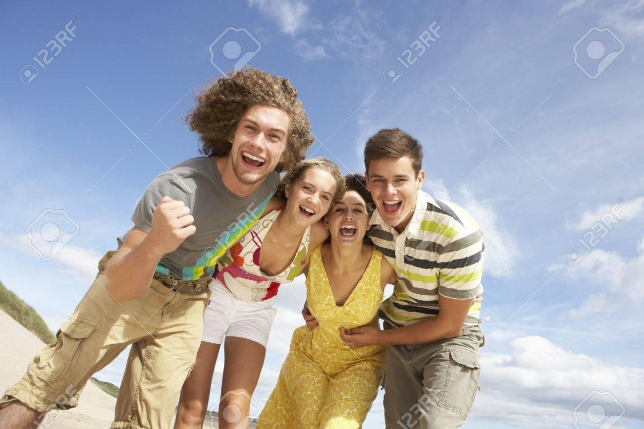 Group Of Friends Having Fun On Summer Beach Stock Photo - 7175583