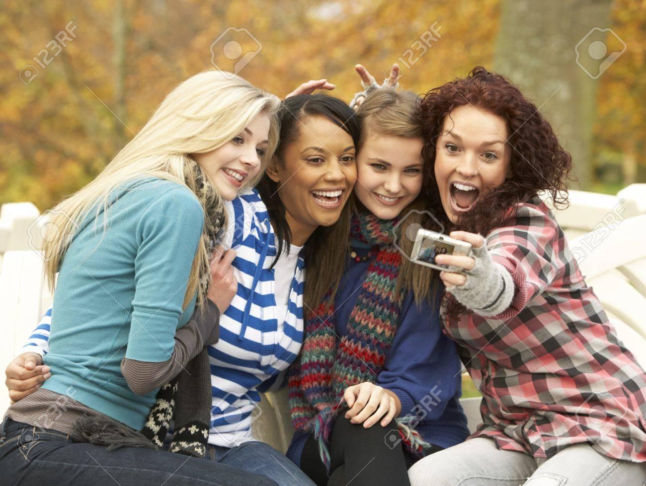 Group Girls Group of Four Teenage Girls