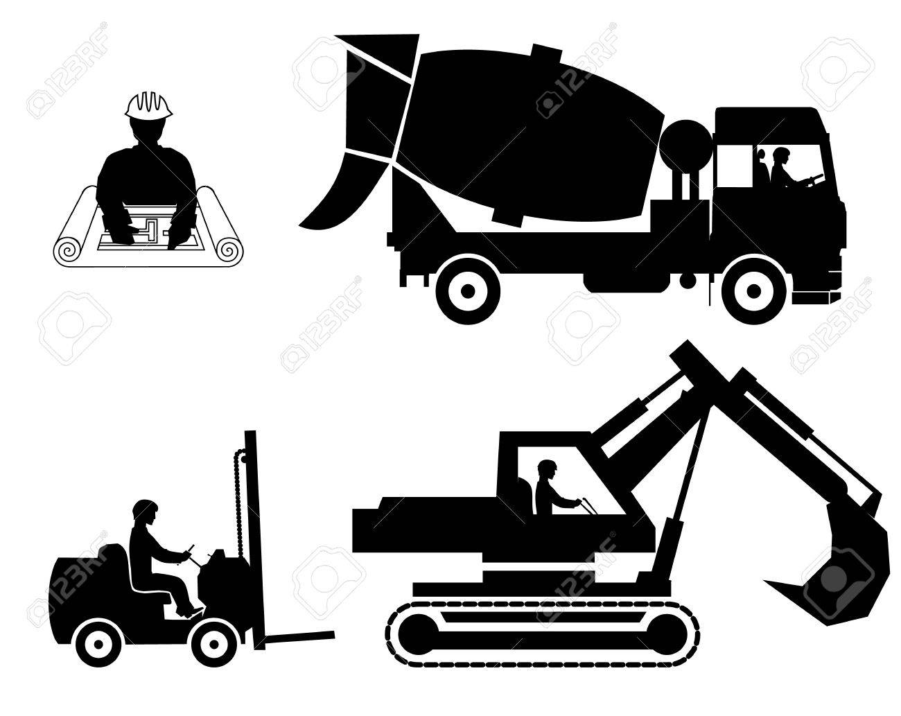 set builders outline vector Stock Vector - 20760009