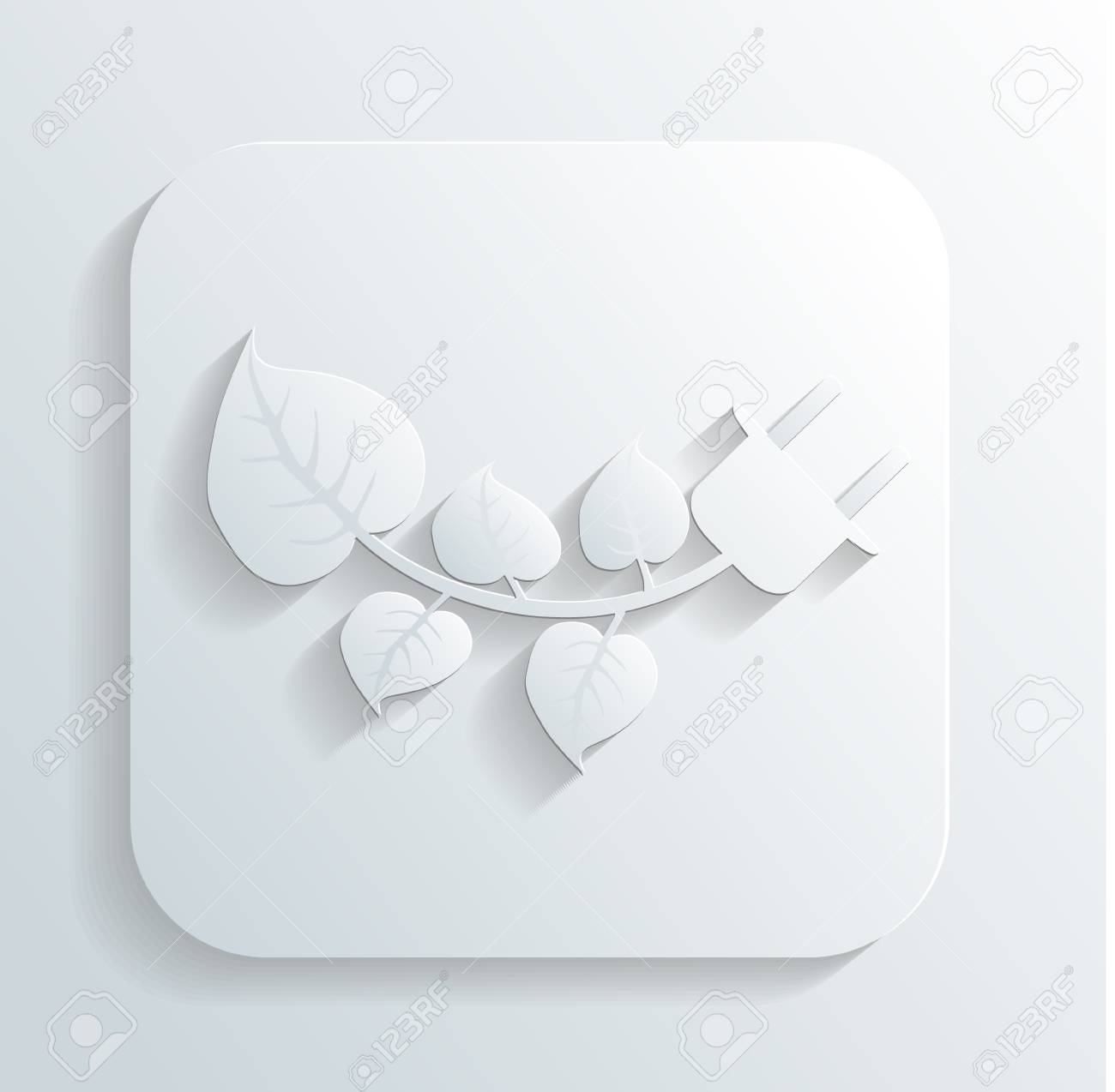 branch with leaves icon Stock Vector - 22243956