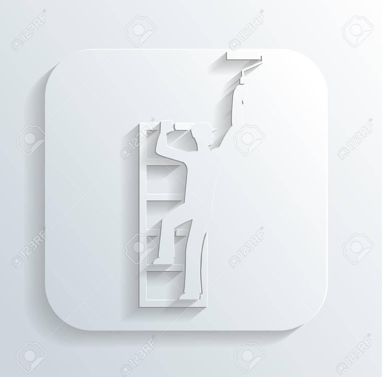 Painter icon Stock Vector - 22243818